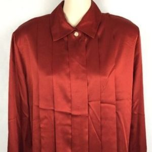 JH Collectibles Red Button Up Blouse Size 6